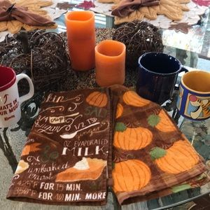 Fall Bundle w/Pumpkins & Flameless Candles & Mugs